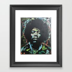 Rock and Roll Blues Framed Art Print