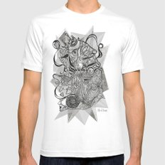 Life of Lines Mens Fitted Tee White SMALL