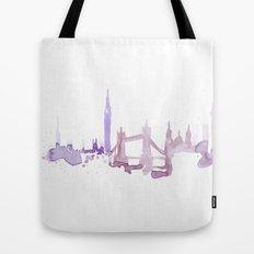 Watercolor landscape illustration_London Tote Bag