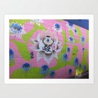 Graffiti Coffee Wall Wide Art Print
