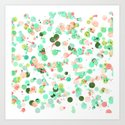 Crayon Love: Splats Art Print