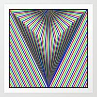 V is for Vector Art Print