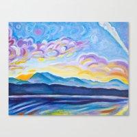 Jetstream And Comox Glac… Canvas Print
