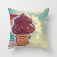 Soft Serve Throw Pillow