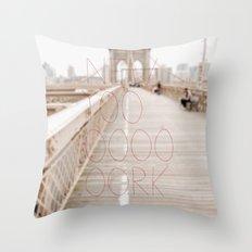 New York romantic typography vintage photography Throw Pillow