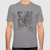 Osaka - Downtown Street Mens Fitted Tee Athletic Grey SMALL