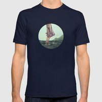 Closure Mens Fitted Tee Navy SMALL