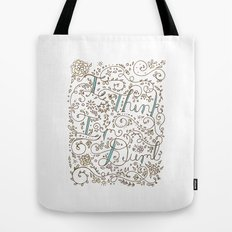 I Think I'm Dumb Tote Bag