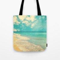 Waves Of The Sea (retro … Tote Bag