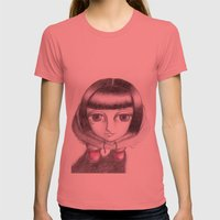 Gaia Womens Fitted Tee Pomegranate SMALL
