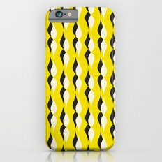yellow petal lines iPhone 6s Slim Case
