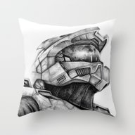 Master Chief Halo Throw Pillow