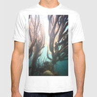 Deep Blue Reef Mens Fitted Tee White SMALL