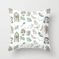 The Great British Summer Throw Pillow
