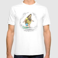 Beefsquatch SMALL White Mens Fitted Tee