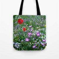 Wild Flower Meadow Tote Bag