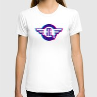 metro illusions - 3D Womens Fitted Tee White SMALL