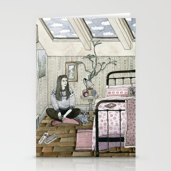 Girls bedroom Stationery Card