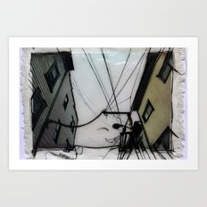 Wires in North Beach San Francisco Art Print
