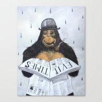 Read No Evil Canvas Print