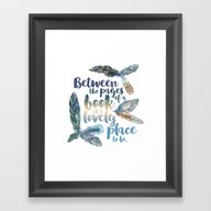 Between The Pages - Feat… Framed Art Print