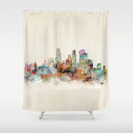 Shower Curtain - minneapolis minnesota - bri.buckley