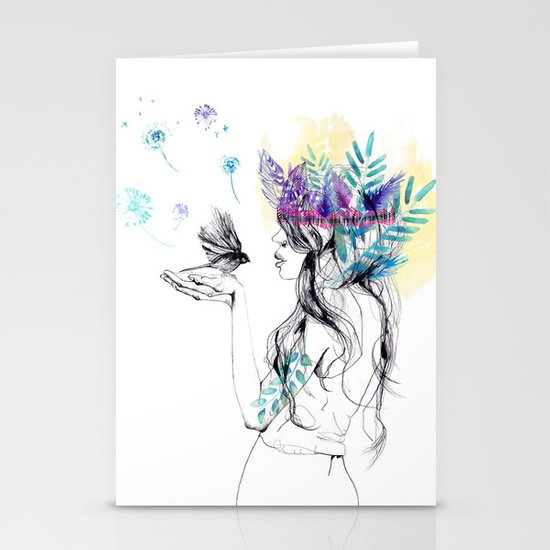 Nature Girl Stationery Card