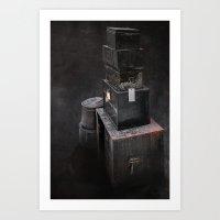 Luggage Art Print