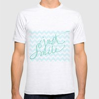 Just Smile - Hand Letter… Mens Fitted Tee Ash Grey SMALL