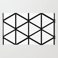 WHITE & BLACK TRIANGLES  Rug