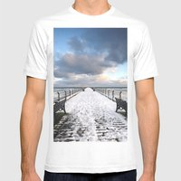 Saltburn By The Sea Mens Fitted Tee White SMALL