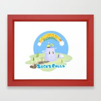 Mt. Top Removal Sucks Ba… Framed Art Print