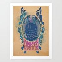 Psychedelic Vader Art Print