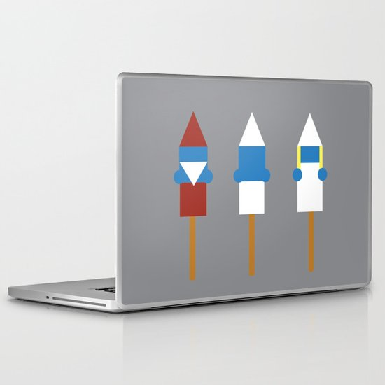 Popsicle Smurfs Laptop & iPad Skin