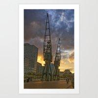 Docklands London Dusk Art Print