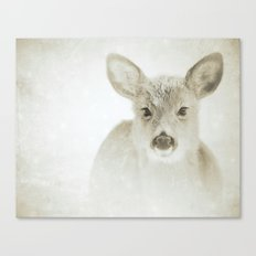 IT'S SNOWING, DEER  Canvas Print