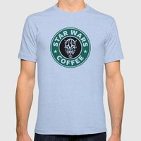 Star Wars Coffee (Darth Maul) Mens Fitted Tee Athletic Blue SMALL