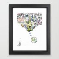 HMMM!?!?!? Framed Art Print