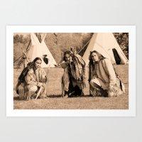 Father And Sons, Cheyenn… Art Print
