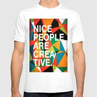 Nice People Are Creative Mens Fitted Tee White SMALL