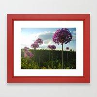 Purple Pansy Framed Art Print
