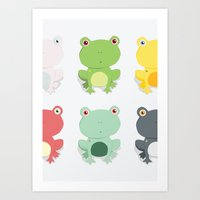 Frogs Art Print