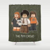 The Mini Crowd Shower Curtain