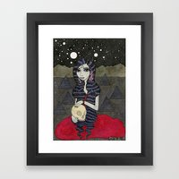 Mary, Seated Framed Art Print
