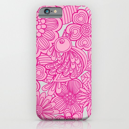 """""""Welcome birds to my pink garden"""" iPhone & iPod Case"""