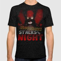 The Bloodhawk Stalks The… Mens Fitted Tee Tri-Black SMALL