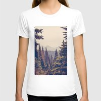 adventure T-shirts featuring Mountains through the Trees by Kurt Rahn