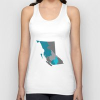 British Columbia Map Pri… Unisex Tank Top