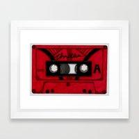 Thriller The Tape Framed Art Print