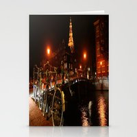 Amsterdam At Night Stationery Cards